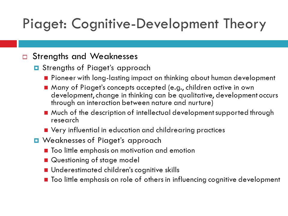 Piaget Theory Of Cognitive Development Essay Example - 1974
