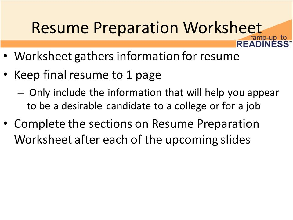 Building a Resume Resume Sections 10th Grade Advisory Activity - resume building worksheet