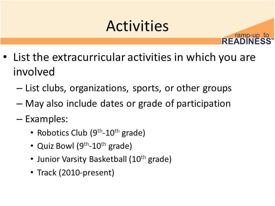 Resume How To List Clubs And Extracurricular