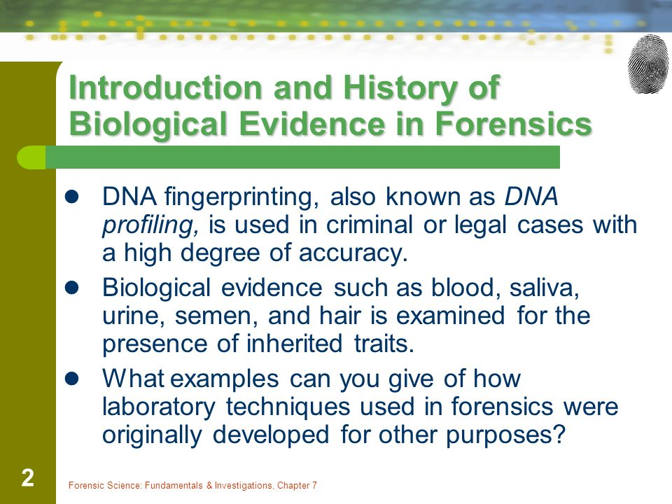 Dna profiling techniques in forensic science essay Homework Academic