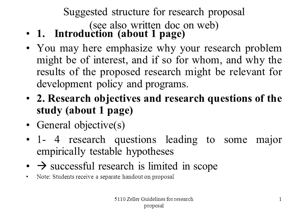 5110 Zeller Guidelines for research proposal - ppt video online download - what is the research proposal
