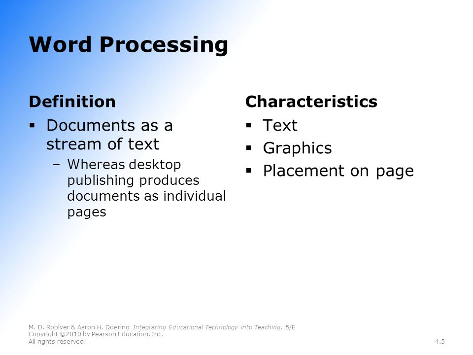 Chapter 4 Teaching with the Basic Three Software Tools Word