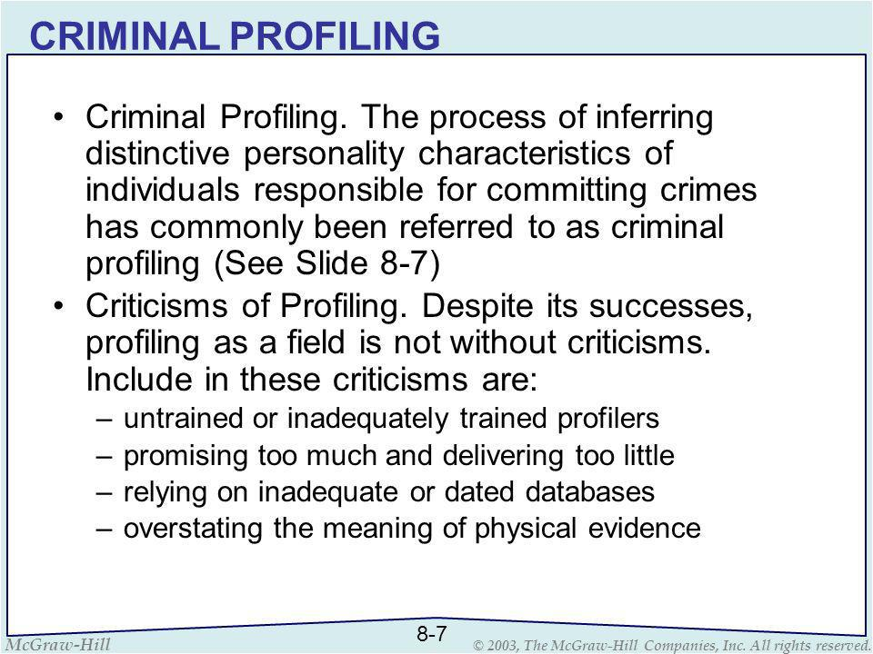 examples of criminal profiling offender profiling and criminal