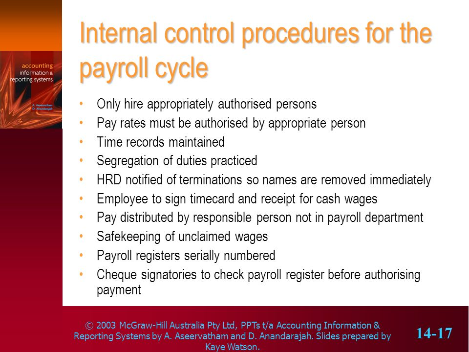 The payroll cycle Learning objectives - ppt download - payroll receipt