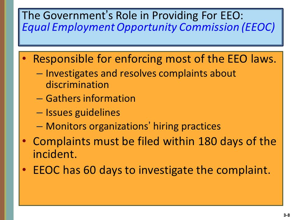 CHAPTER 3 Providing Equal Employment Opportunity and a Safe - eeoc complaint form