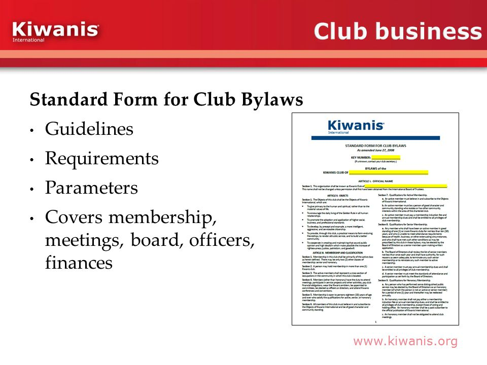 New member orientation - ppt video online download - Club Bylaws Example