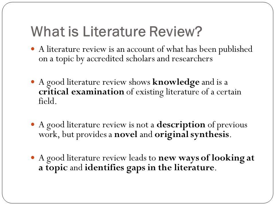 Literature Review Mayyada Wazaify, PhD - ppt download - literature review