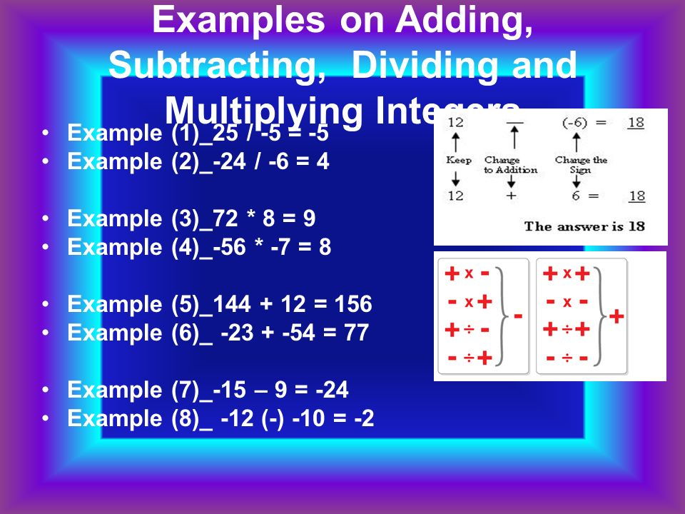 Add Subtract Multiply Divide Ppt Video Online Download
