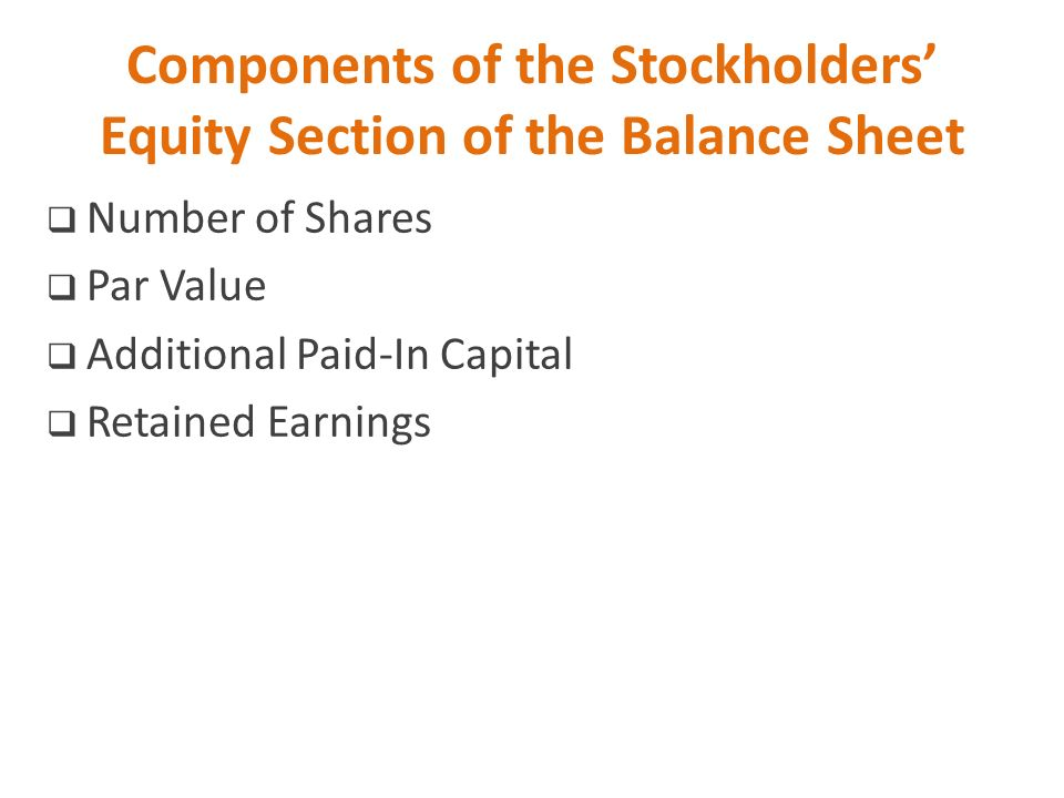 Additional paid in capital stock options balance sheet - components of balance sheet