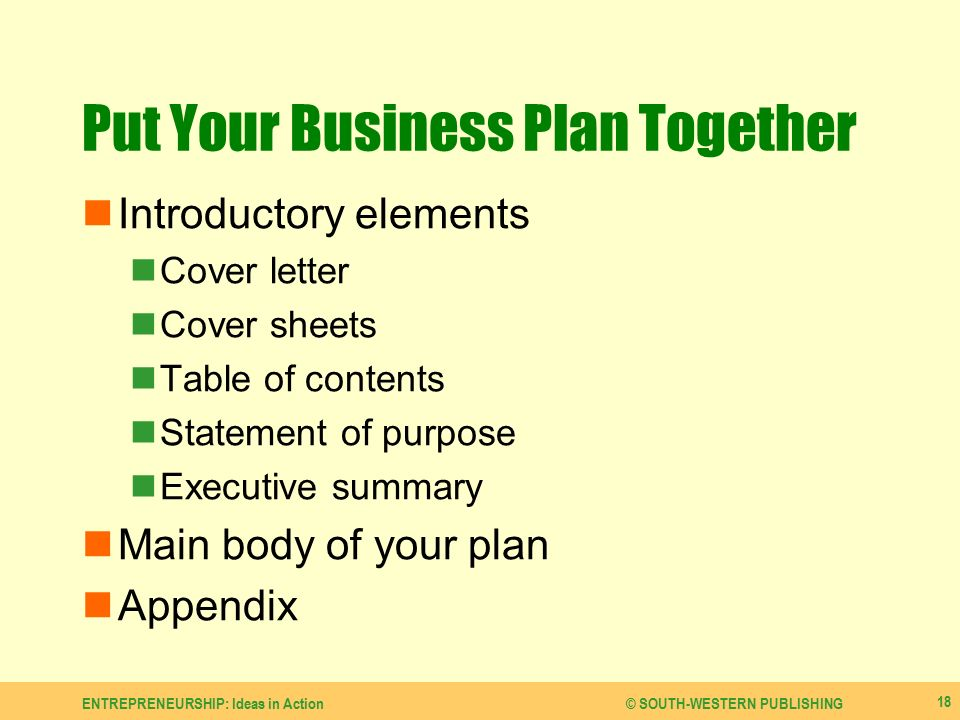 Develop a Business Plan - ppt video online download - business plan elements