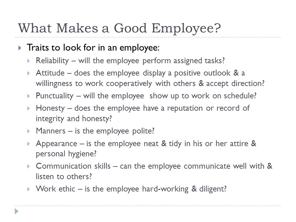 traits of a good worker - Ukranagdiffusion