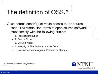 Basic knowledge of Open Source (OSS) and Free Software (FS) - ppt video online download