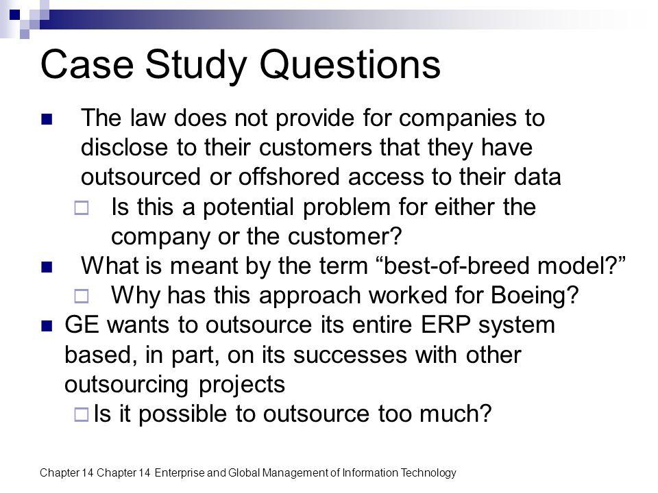 Volunteer case study questions