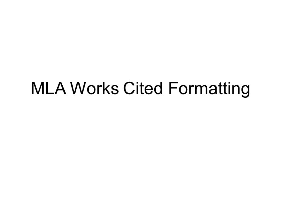 mla works cited double spaced - Mersnproforum - Mla Work Cited Book