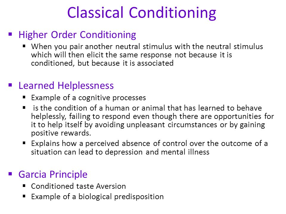 Classical Conditioning - ppt video online download - examples of classical conditioning
