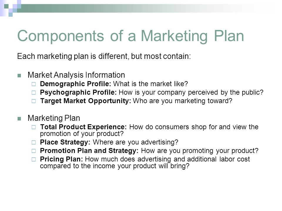 Components of strategy Custom paper Academic Writing Service - Components Marketing Plan