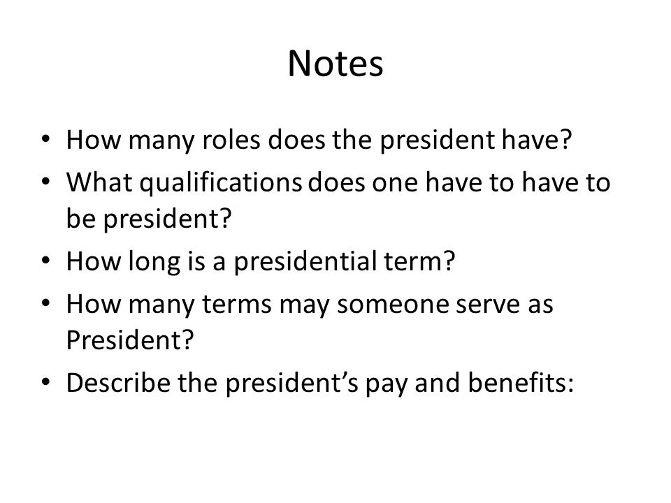 Chapter 13 Section 1 The Presidentu0027s Job Description - ppt video - president job description