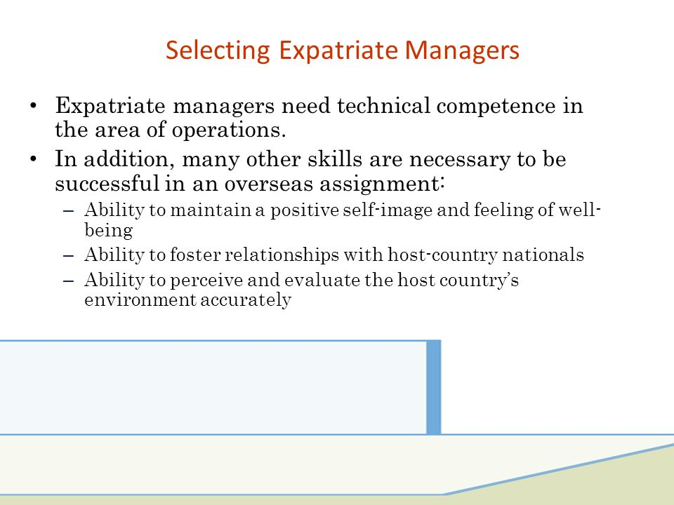 Selection Process For Expatriates