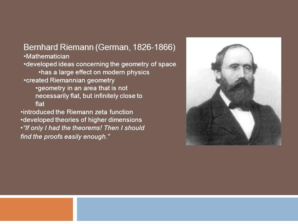 Bernhard Riemanns Contribution To Mathematics Olivero