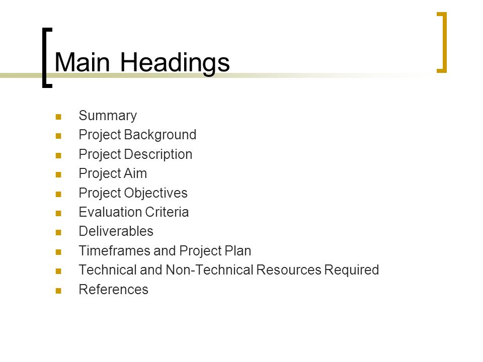 The Project Proposal - ppt video online download - project proposal