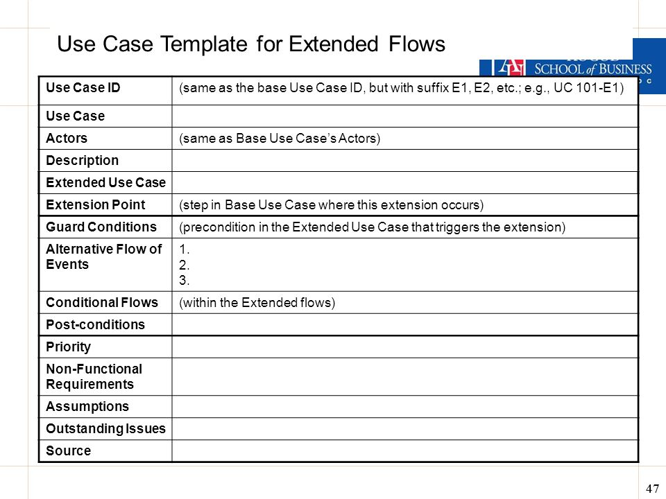 Business Analysis  Data Design ITEC-630 Fall ppt download - use case template