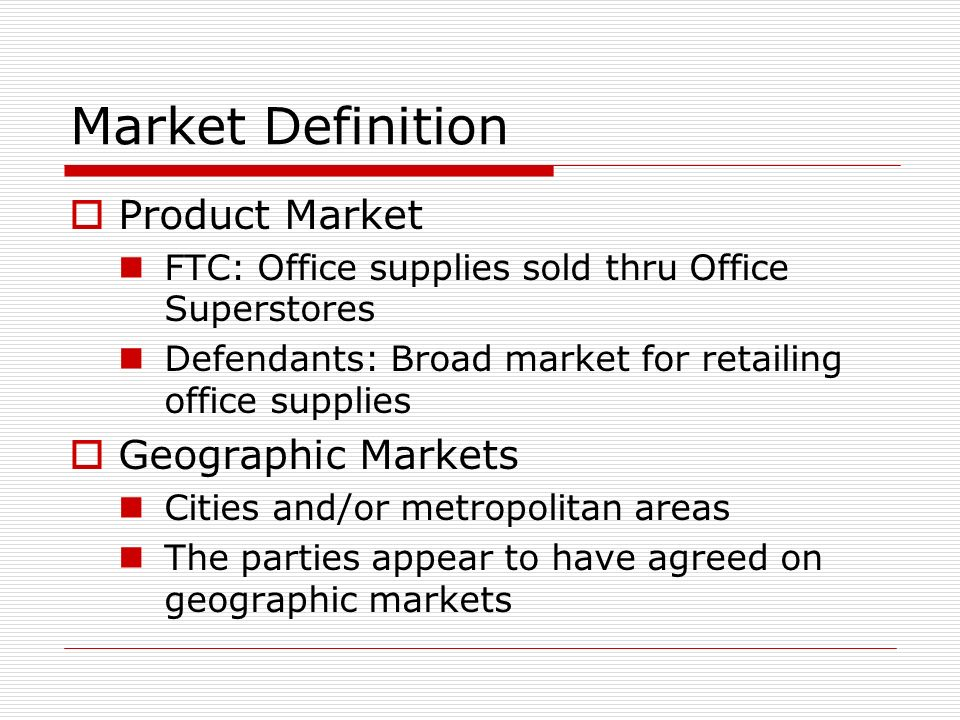 product market definition - Selol-ink