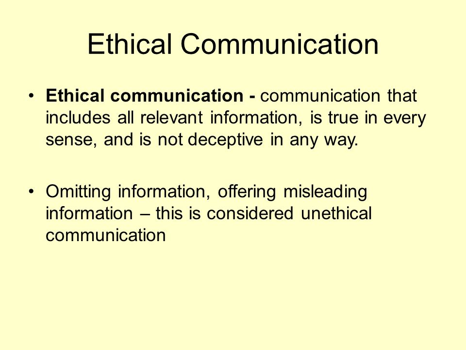 Ethical Communication nfcnbarroom