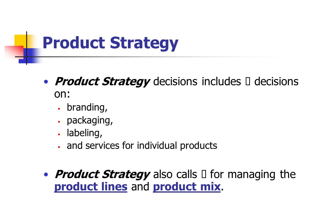 Product and Branding Strategies - ppt video online download