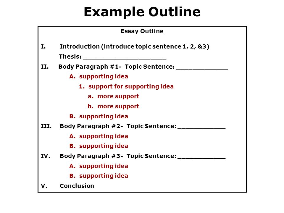 essay outline example free Download a free essay outline template to make your document professional and perfect find other professionally designed templates in tidyform.