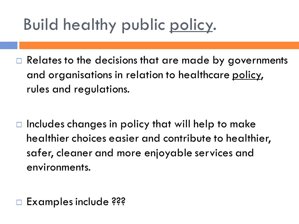 Models of Health and Health Promotion - ppt video online download - public policy examples