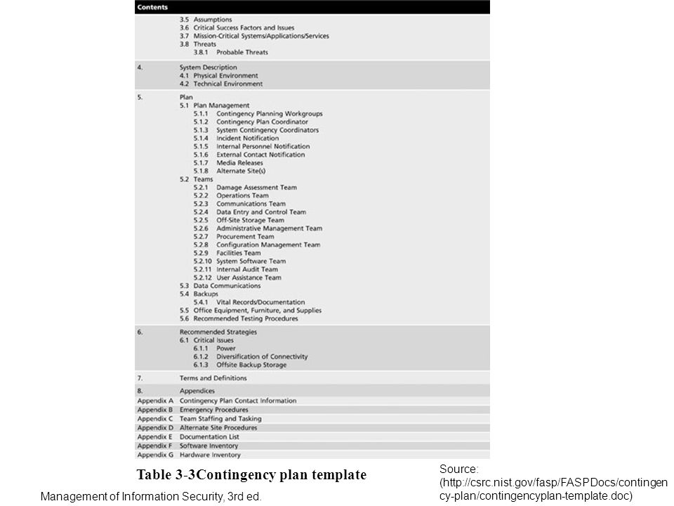 It Contingency Plan Example - cv01.billybullock.us