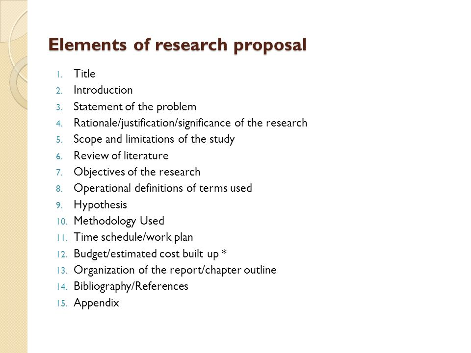 Research paper proposal methodology Writing And Editing Services