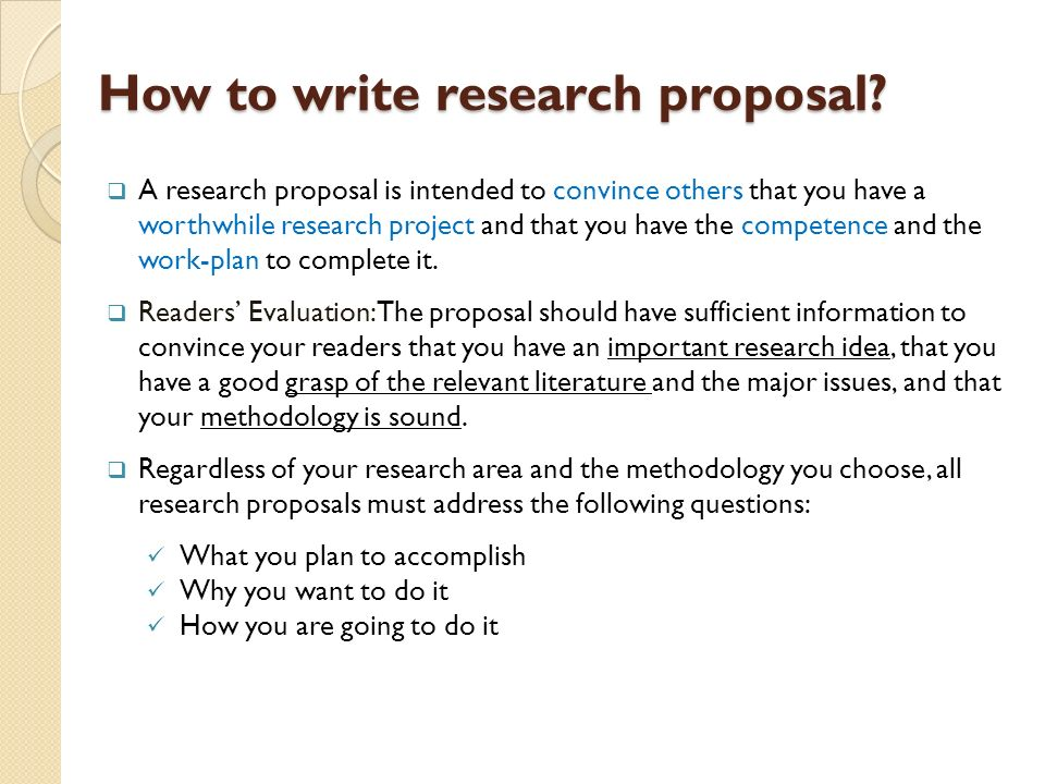 How To Write A Research Proposal Apa