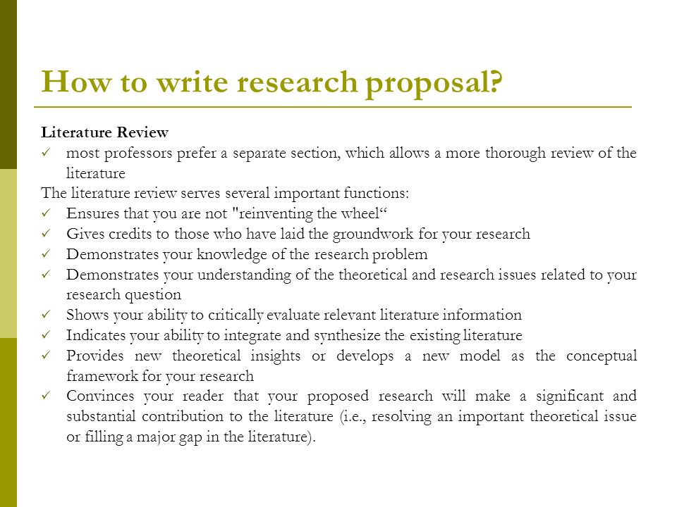 Draft research proposal - writing research papers - how to develop a research proposal