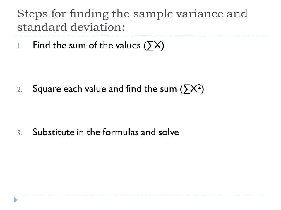 Variance and Standard Deviation - ppt download - sample variance