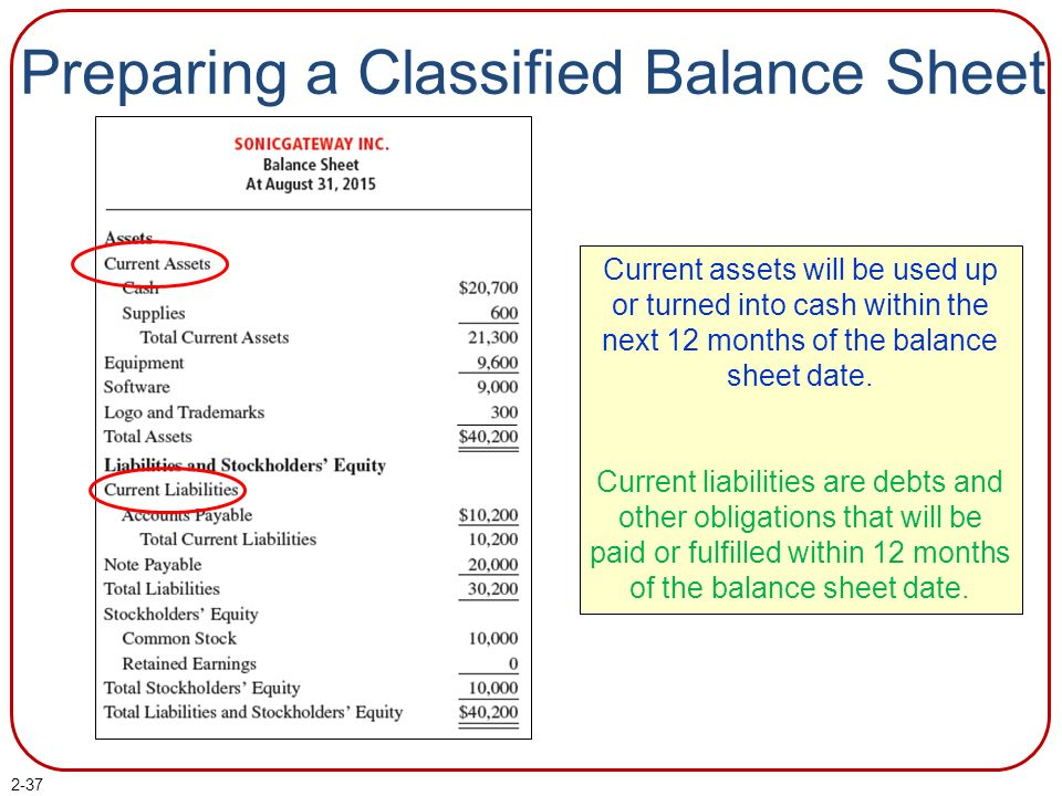 Chapter 2 The Balance Sheet PowerPoint Author Brandy Mackintosh, CA - how to prepare a balance sheet
