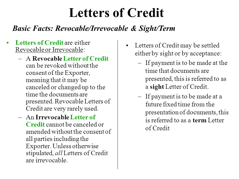 Irrevocable Letter Of Credit And Confirmed   Thank You Letter
