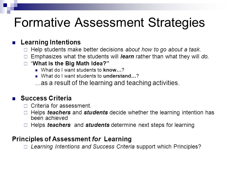 All Teachers Reaching All Students - ppt download - formative assessment strategies