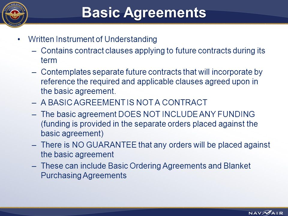 Contract Types PAO Approved SPR Contract Types - ppt video online - basic agreement