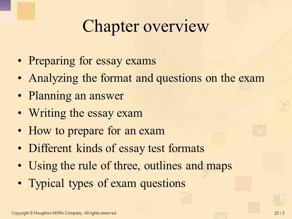 Preparing And Writing Essay