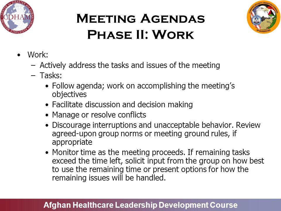 Leadership IV Effective Meetings and Committees - ppt video online - making agendas