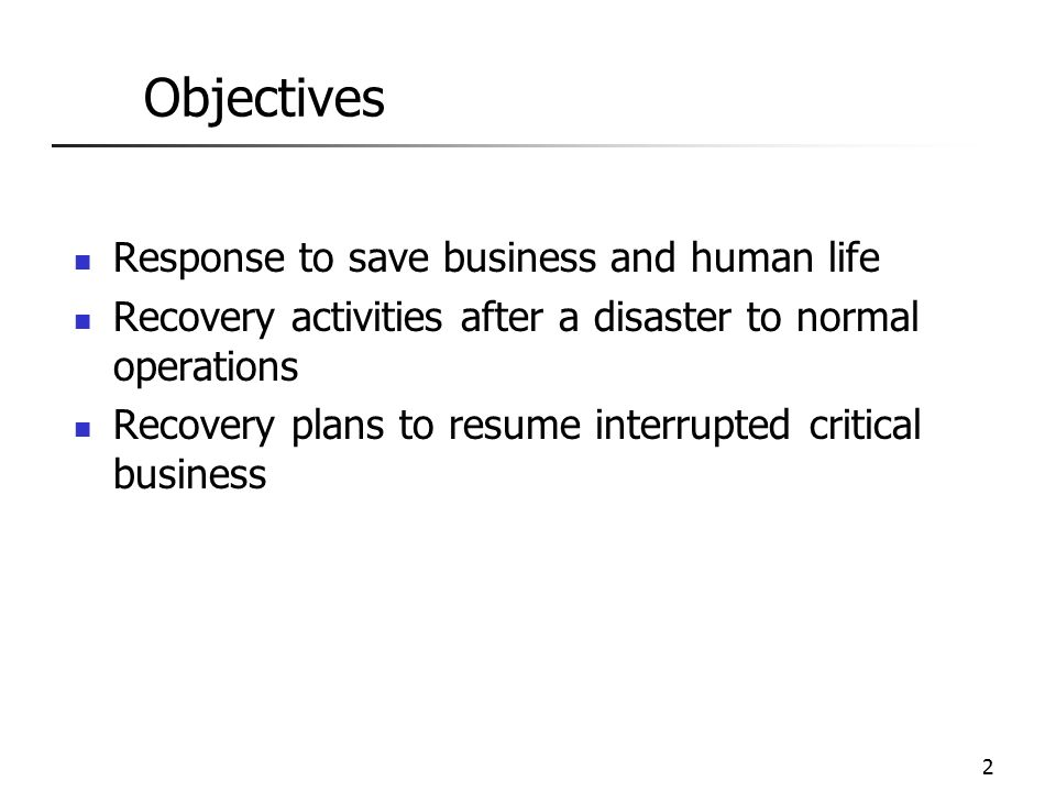 ISA 562 Internet Security Theory \ Practice - ppt video online - recovery plans