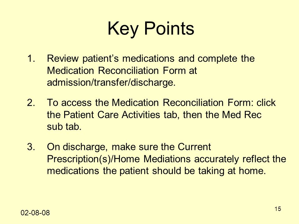 Medication Reconciliation Review Form - Medication Reconciliation Form