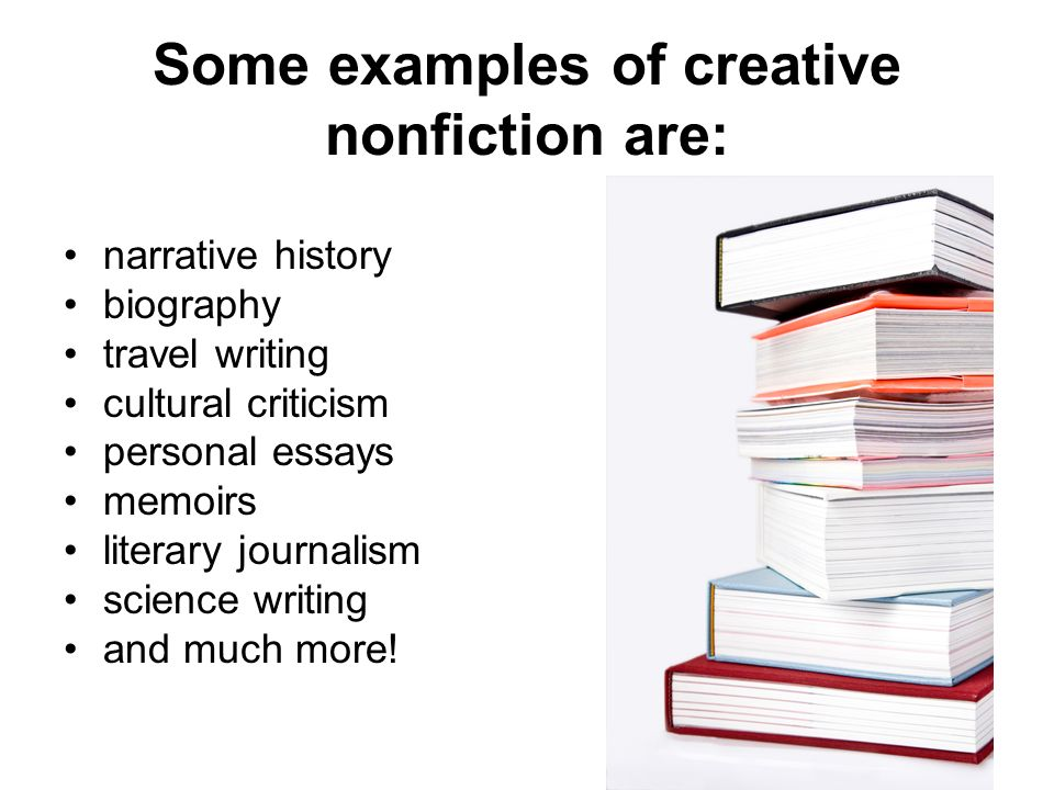 Creative nonfiction examples essay about life \u2013 Papers Provider