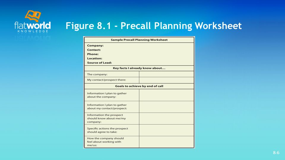 sales call planning worksheet radiovkm