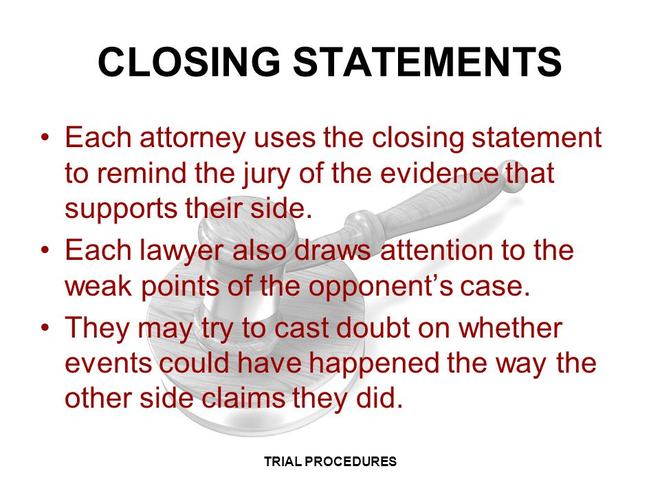LAW I CRIMINAL LAW TRIAL PROCEDURES TRIAL PROCEDURES - ppt video