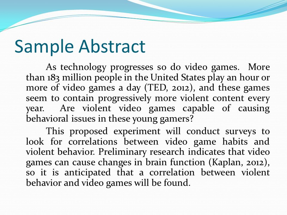 Research proposal abstract format