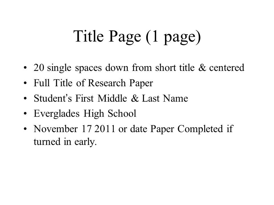 title page of term paper - cover page for apa style research paper