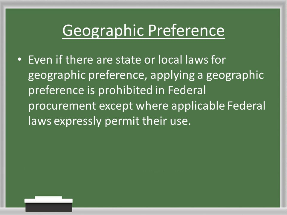 Geographic Preference - Arch-times - geographic preference