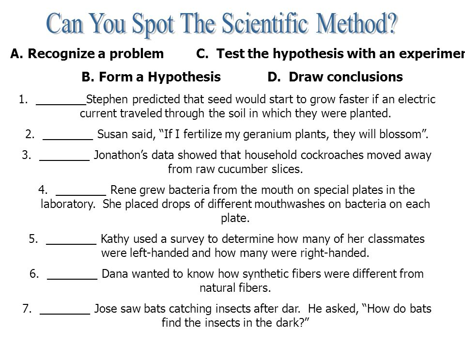 Can You Spot The Scientific Method Worksheet Answers - Breadandhearth